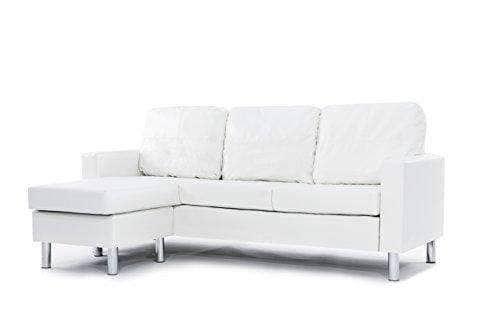 Modern Leather Sectional White Sofa