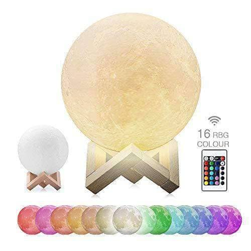 16 Colors 3D LED Moon Lamp with Remote Control