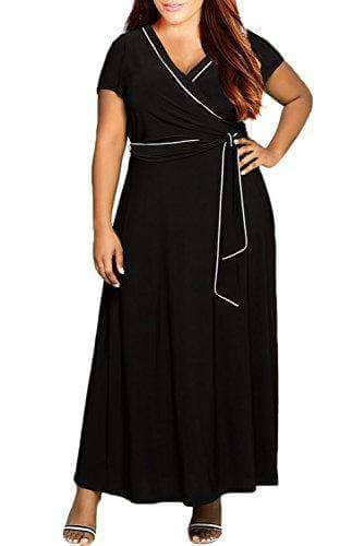 Sleeves Plus Size Casual Maxi Dress - WAS $49.99  NOW $36.99