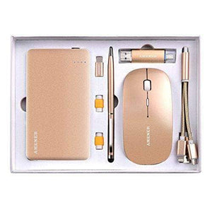 Portable Power Bank GIFT SET with Receiver Wireless and USB Flash Drive & Touchscreen Pen
