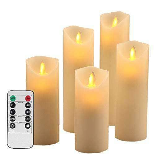 LED Flameless Candle Set of 5 with Remote Control