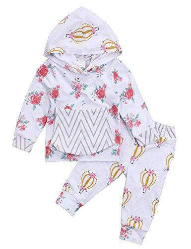Baby Girls Long Sleeve Flowers Hoodie - New Born to 24 Months - WAS $24.99 - NOW $19.99