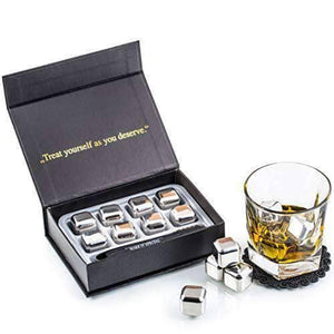 Reusable Stainless Steel Ice Cubes Gift Set