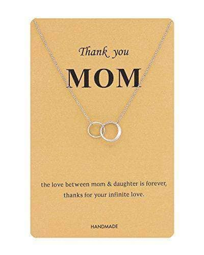 Double Circle Rings Necklace for MOM