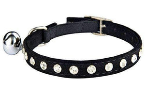 Crystal Jeweled Cat Collar with Bell