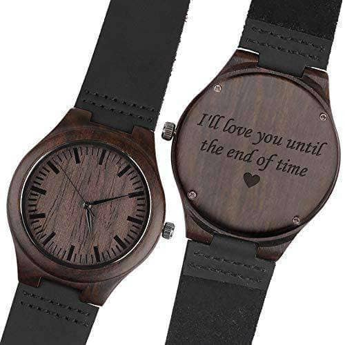 Personalized Wood Wrist Watch for Men