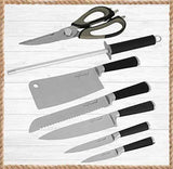 8 PCS Knife Set with Rotating Block