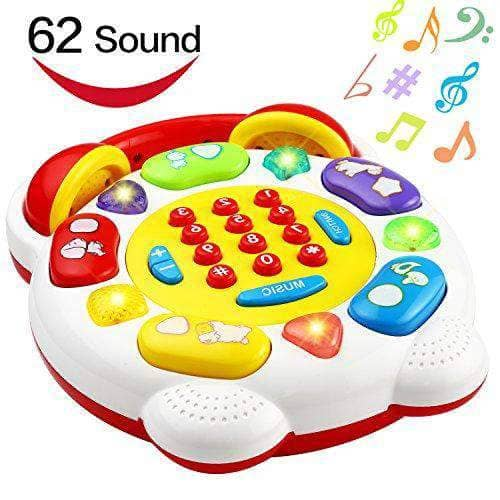 Educational Phone Toy, Smart Phone With 22 Button 62 Sound - Age 1 to 3