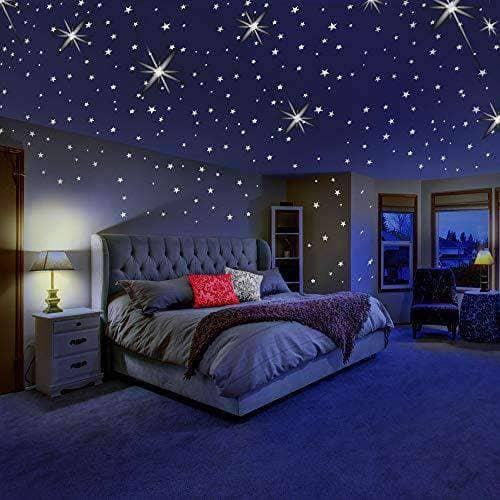 Glow in The Dark Stars Ceiling Stickers