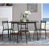 5 PIECES Dining Set - 1 Table With 4 Chairs