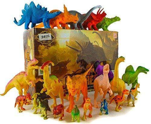 24 Jurassic Dinosaur Toys - Age 3 to 7