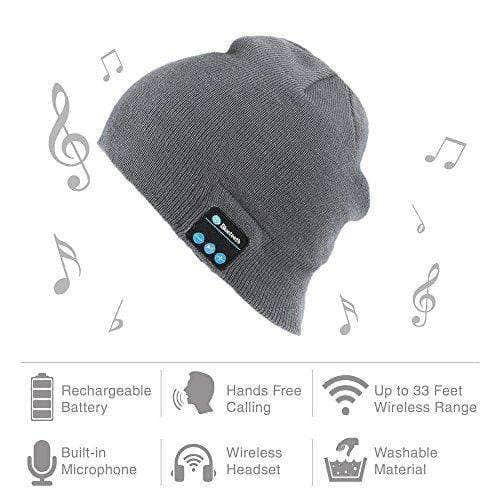 Bluetooth Music Hat Cap with Stereo Headphone