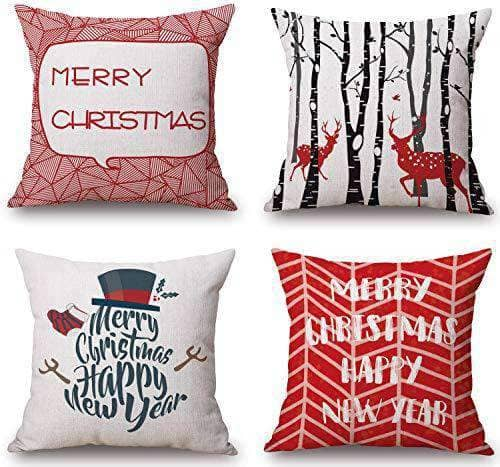 Christmas Pillow Covers - Set of 4
