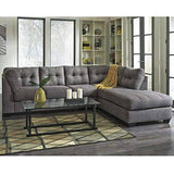 2 Piece L Shape Charcoal Sectional Contemporary Design