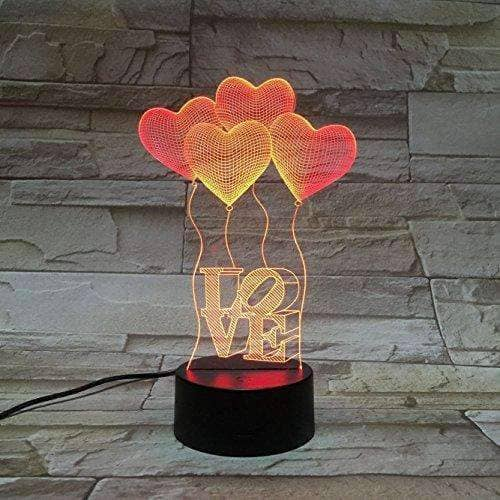3D LED Illusion LOVE Night Lamp
