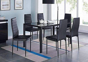 Modern 7 Pieces Dining Table Set - Table With 6 Chairs