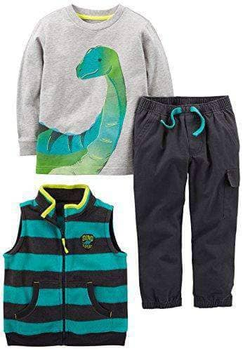 Boys' 3-Piece Dino outfit - Age 2 TO 5 - WAS $38.99 NOW $29.99