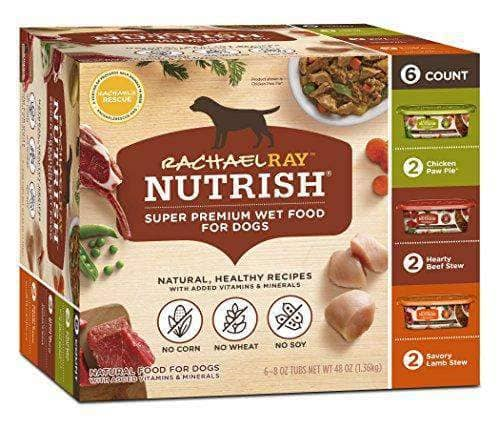 Natural Real Meat Dog Food, Variety Pack of 6