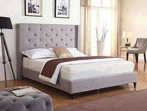 COMPLETE King Size Headboard Platform Bed with Slats