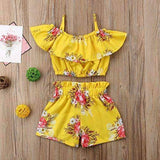 Girl Floral Top+Shorts - AGE 2 TO 6 YEARS WAS $35.99 NOW $22.99