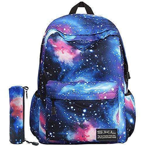 Galaxy Blue School Bag For Boys Girls