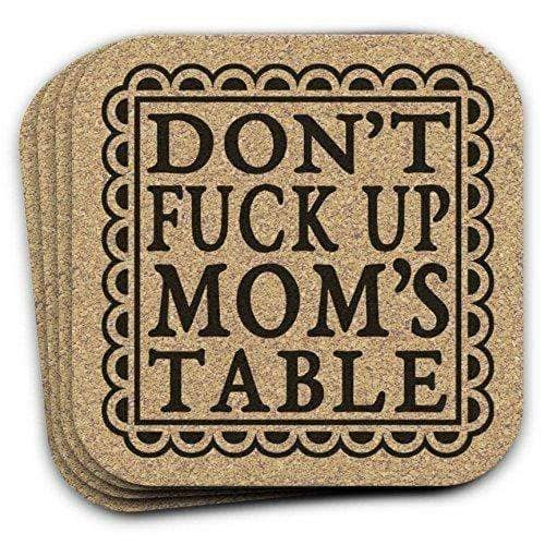 4 pc Funny Cork Coaster Gift Set