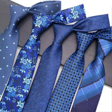 Blue Silk Neckwear For Men Formal Business Wedding Party Groom