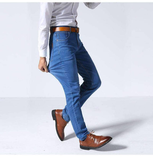 New Business Casual Stretched Slim Jeans