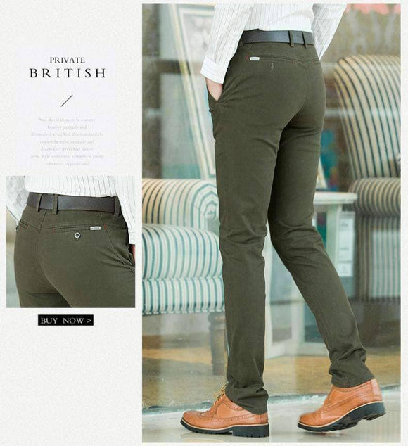 British Style Business Khaki Pants