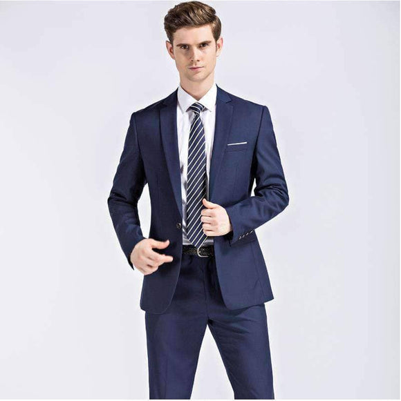 Blue Wedding Suit - Jacket + Pants - Big Sizes Available