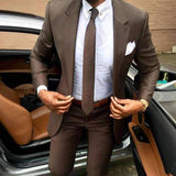 Brown Elegant Business Suit - Jacket and Pants