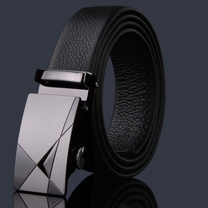 Leather Automatic Buckle Belt - 37 Designs