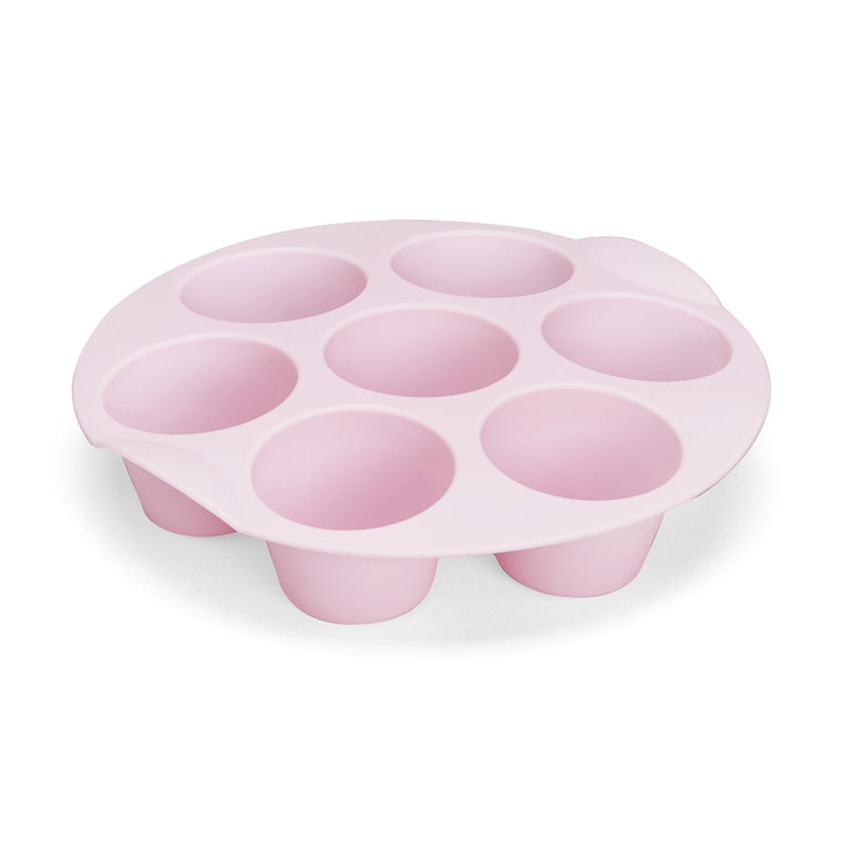Silicone Muffin Mould 7-Cup Round Pink - for Varoma - thermishop.com.au