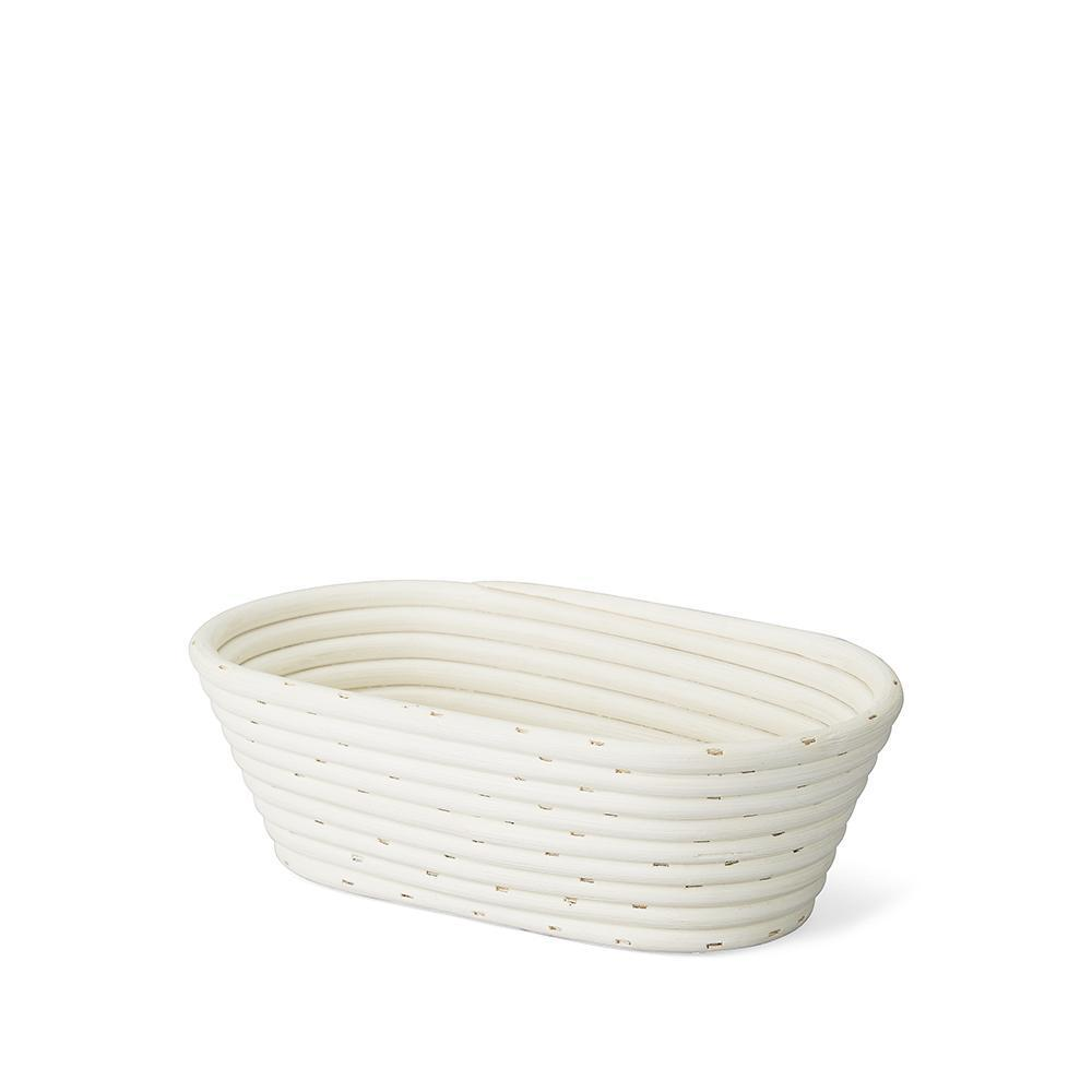Cane Banneton Bread Proving Basket Oval 1kg - thermishop.com.au