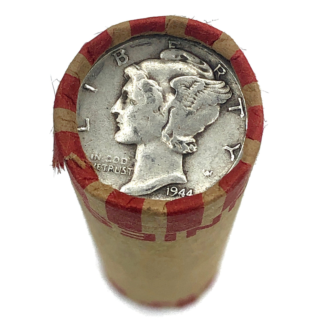 Bank Wheat Penny Roll | Mercury Dime