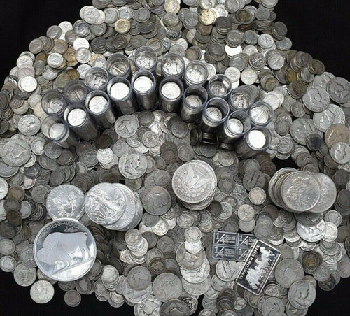 SILVER US COINS .999 PURE SILVER BARS BULLION MASSIVE ESTATE SALE COIN MIXED LOT