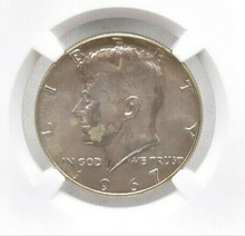 Load image into Gallery viewer, Brilliant Uncirculated 1967 Kennedy Half Dollar