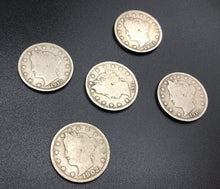 Load image into Gallery viewer, Liberty -V- Nickels (Lot of 5)