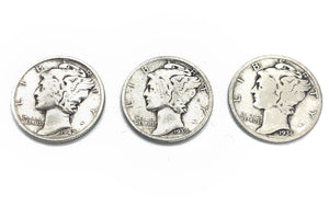 Silver Mercury Dimes (Lot of 5)