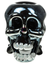 Black and Blue Skull Hand Pipe