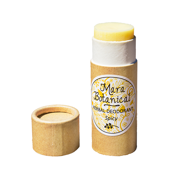 Natural Herbal Deodorant made in New Zealand from pure essential oils with a yummy spicy scent