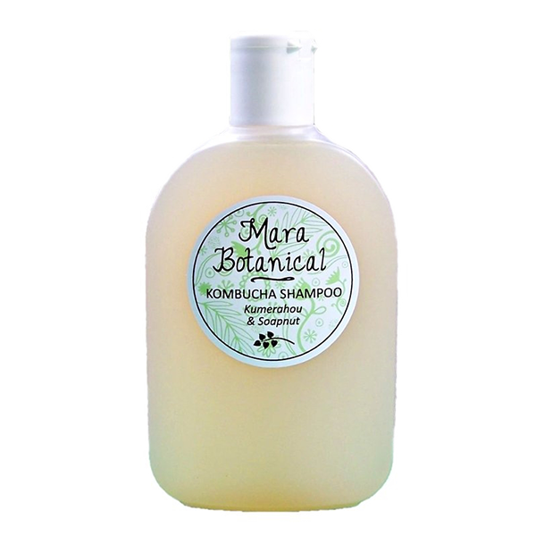 Natural Herbal Shampoo made in New Zealand from Kombucha, Kumerahou and Soapnut