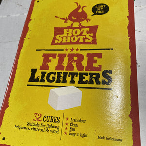 Hot Shots Fire Lighters - 32 Pack