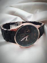 Load image into Gallery viewer, COUPLES WATCH ARMANI BLACK-SK-A