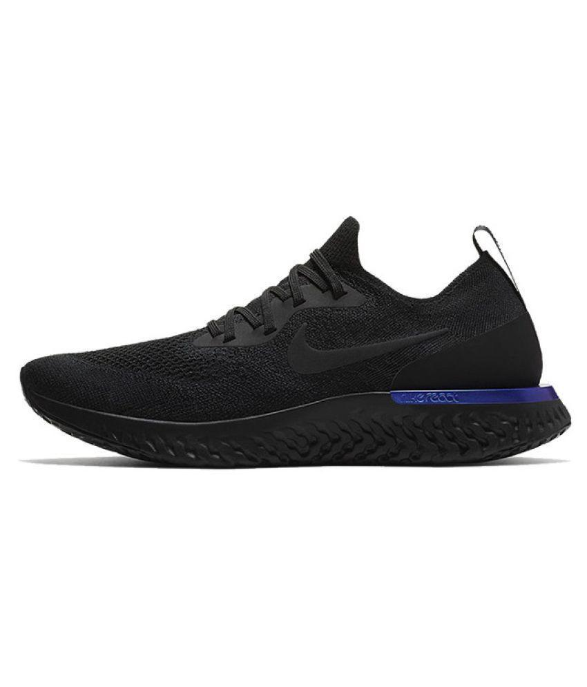 Nike Epic React Flyknit Running Shoes BLACK