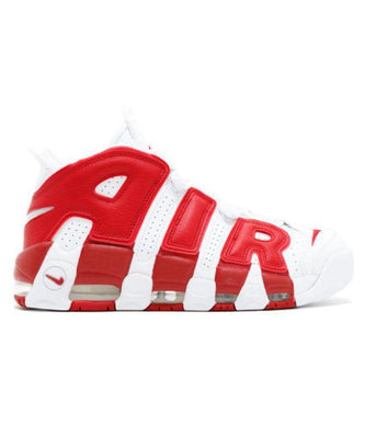 Nike Air UpTempo 96 White &  Red Basketball Shoes