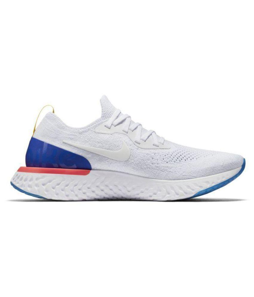Nike Epic React Flyknit White Running Shoes
