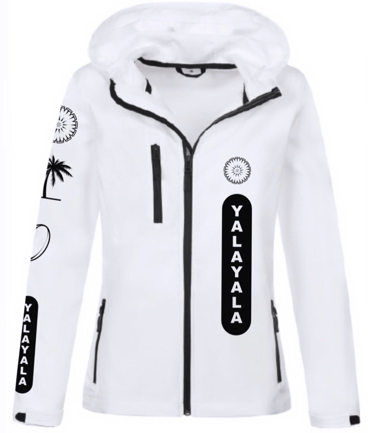 Ladies White Itaukei Jacket