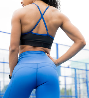 Chrissy Electric Blue Sports Bra
