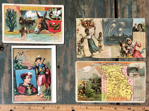 Victorian Trade Card Set of 4